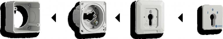 Selettore Chiave a 3 Contatti ENAPD per controllo accessi