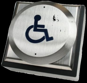 Pulsanti in Acciaio Handicap Inox Antivandalo RTED per controllo accessi e antintrusione