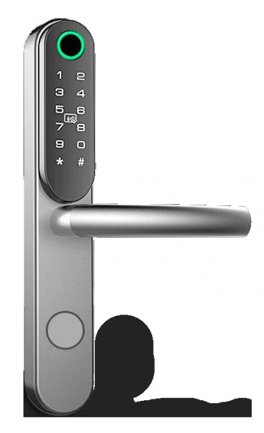 TB130CR-BT maniglia elettronica include Lettore biometrico, tastiera, lettore mifare e Bluetooth per Uffici, B&B, Appartamenti e Uffici