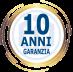 Garanzia Prodotti CDVI<br>10 Anni